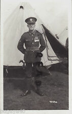 WW1 Soldier Bugler Royal Engineers TF Territorial at camp wears WW1 Medals & TEM