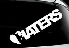 funny I LOVE HATERS car window bumper laptop bike sticker colours VW jdm DUB