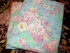 SET Rare Ralph Lauren Pompano Floral Full Flat Fitted Sheets Blue Pink Green