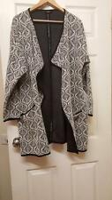 NEXT Black & White Loose Fit Stretch Material Womens Jacket Vgc Size 22