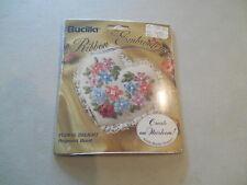 """Bucilla Silk Ribbon Embroidery Kit """"Floral Delight"""" Potpourri Heart 1994 3x3"""
