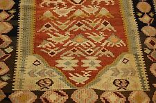 c1930s ANTIQUE ANIMAL SUBJECTS CAUCASIAN KILIM 4.6x10 FINE WOVEN BY VILLAGERS