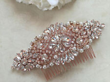 Rose gold Hair Comb, Wedding Hair Accessory, Pearl and Crystal Hair Comb wedding