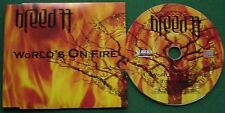 Breed 77 World's on Fire Albert Label JASCDUK011 2004 CD Single