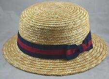 Jeanne Simmons Straw Boater Hat-natural