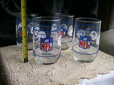 NFL & AFL Glass TUMBLERS~Set of 4~Eastern-Western-Central Divisions