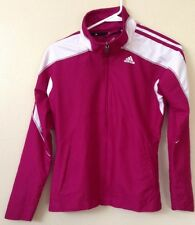 Adidas  Womens Pink White Windbreaker Track Jacket X Small Crossfit Running