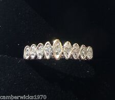 9ct Gold & Diamond Half Eternity Ring, Size L