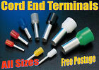 Cord End Terminals Insulated All Sizes Bootlace Ferrule Terminals 0.25mm - 35mm