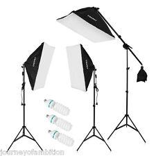 "2000W Studio Photography LED Continuous Lighting 80"" Light Stand Softbox Kit Set"