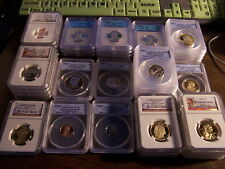 ANACS,NGC,PCGS-ICG PROOF 70 OR MS 70 COINS-1C-5C-10C-25C-50C-$1-READ!! SPECIAL