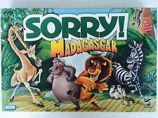 DREAMWORKS SORRY MADAGASCAR Family Board Game - 2001 COMPLETE - Great Condition