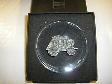 NIB Wells Fargo Bank Stagecoach Medallion Round Paperweight - HIGHLY COLLECTIBLE