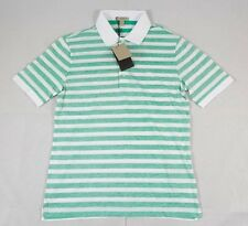 Burberry Green White Striped Cotton Collared Shortsleeve Shirt Sz. S $165 BNWT
