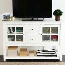 Walker Edison 52inch Wood Buffet Console Table TV Stand White W52C4CTWH NEW