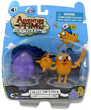 """ADVENTURE TIME with FINN & JAKE Collection_LUMPY SPACE PRINCESS & JAKE 2 """" figs."""