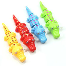Children Kids Plastic Funny Crocodile Shaped Clockwork Wind Up Party Toy Gift