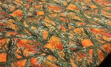 "500D COATED CORDURA BLAZE ORANGE MC2 CAMO FABRIC 60"" TRUE TIMBER WATERPROOF CAMO"