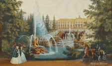 WALL JACQ. WOVEN TAPESTRY Fountains near Palace EUROPEAN DECOR - VICTORIAN SCENE