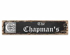 SP0833 The CHAPMAN Family name Sign Bar Store Shop Cafe Home Chic Decor Gift