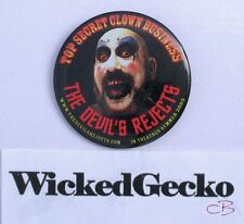The Devil's Rejects Captain Spaulding Metal Pinback Button - Rob Zombie Sid Haig