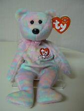 Ty Beanie Baby CELEBRATE Plush Pastel Bear with Ty 15 Years Heart on Chest