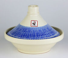 RARE! Steam Cooker & Lid, MINT- UNUSED, Val Do Sol, Portugal, Blue & White