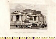 c1815 ANTIQUE SMALL GEORGIAN PRINT ~ NEW ASSIZE COURTS St GEORGES HALL LIVERPOOL