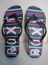 BRAND NEW ROXY BLACK LOGO PRINTED LADIES SLIPPERS FLIP FLOPS SANDALS 7 37 SALE