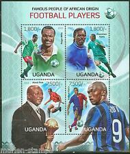 UGANDA FAMOUS PEOPLE OF AFRICAN ORIGIN FOOTBALL (SOCCER) PLAYERS  SHEET  MINT