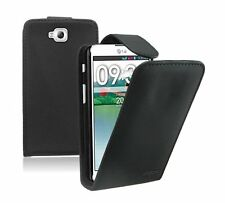 BLACK Leather Flip Case Cover Pouch for LG G Pro Lite / D680 / D684 / D682TR