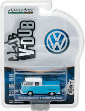 GREENLIGHT 1968 VOLKSWAGEN T2 TYPE 2 DOUBLE CAP PICK UP 1/64 CAR 29860-C