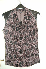 Animal Print Sleeveless Top By T&K BOUTIQUE Size Small BNWT