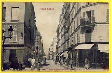 CPA Coll. Fleury FRANCE 75 - PARIS Rue BASFROI prise de la Rue de CHARONNE Animé