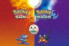Pokemon Sun and Moon Wall Poster (30 in  x 20 in) - Fast Shipping