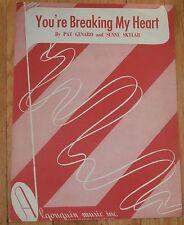 You're Breaking My Heart Sheet Music 1948 #2