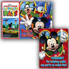 MICKEY MOUSE Playtime INVITATIONS AND THANK YOUS (8) ~ Birthday Party Supplies