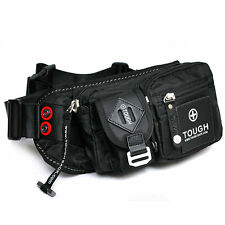 New Man Oxford Waterproof Waist Pack Black Nylon Tough Fanny Pack Quality Bag