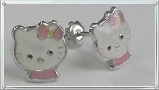 .925 STERLING SILVER HELLO KITTY STUD EARRINGS