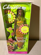 NEW Mattel Barbie Christie Amazing Nails AA African American Doll 2001 53380