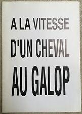 Dossier de Presse A LA VITESSE D'UN CHEVAL AU GALOP Fabien Onteniente *c