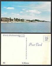 Old Florida Postcard - Ft. Myers Beach - Skyline from Fishing Pier