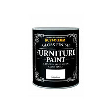 Rust-Oleum White Frost Gloss Premium Furniture Paint Vintage Shabby Chic 125ml