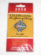 2008 Official NASCAR Day Collectable Pin Celebrating 5 Years Of Caring!