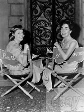 BETTE DAVIS JOAN CRAWFORD PHOTO On the set of WHAT EVER HAPPENED TO BABY JANE?