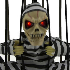 Haunted House Halloween Motion Sensor Cage Jail Prisoner Decoration Hanging Cool