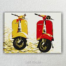 Vespa vintage 2 QUADRO MODERNO QUADRI STAMPA TELA POP ART PIAGGIO ASTRATTO