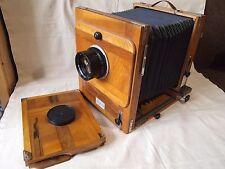 FKD 18x24 Wooden Large Format camera + Industar37 300mm f /4,5 lens + cassette
