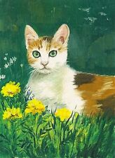 1.5x2 Dollhouse Miniature Print Of Painting Ryta 1:12 Scale Cat Japanese Bobtail