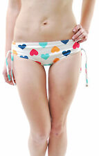 Wildfox Women's Vintage Hearts Ruched Boyshort Bikini Bottoms Multi BCF65